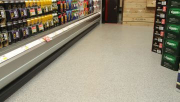 New Shop Flooring for Premier Brands Wirral