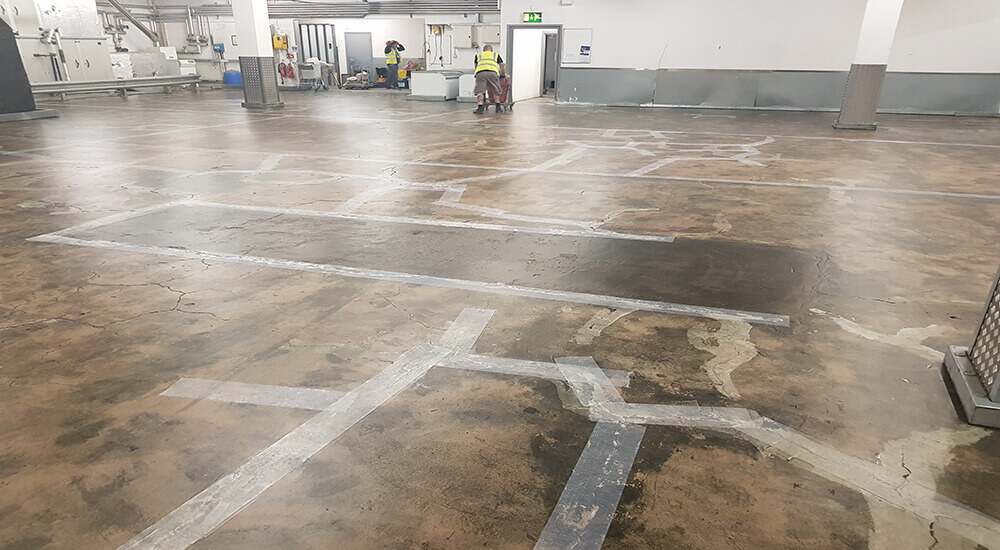 Warehouse Floor Coating at Aldi In Manchester