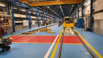 New industrial Floor Coating for Slade Green Train Maintenance Depot