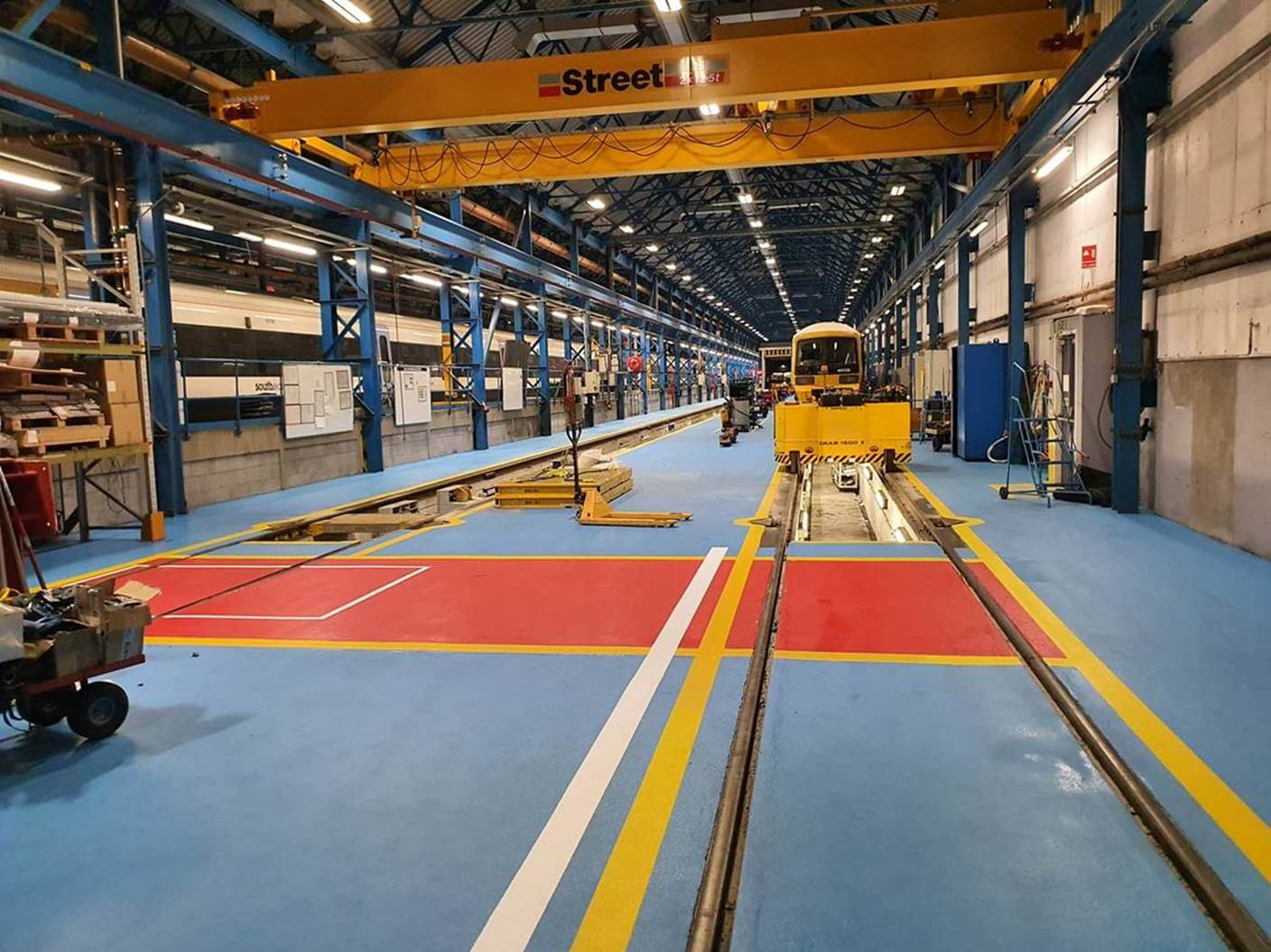 Slade Train Deport Flooring Maintenance