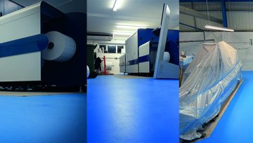 Chemical Resistant floor coating for a Reel Label Solutions
