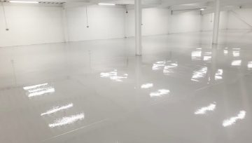 Storage Warehouse Flooring for a Car Dealership