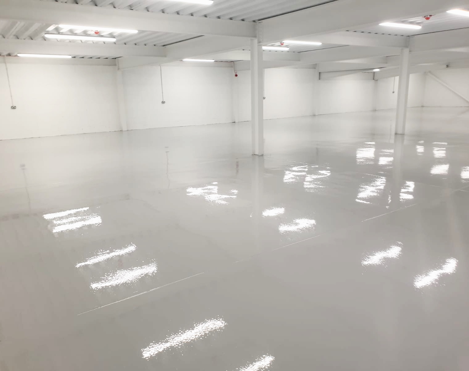 Resin applied to warehouse floor