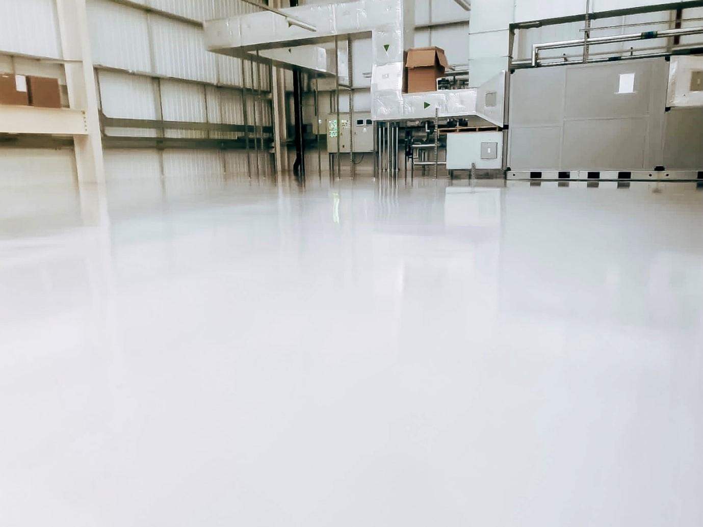 Epoxy resin Floor using Virtus Strongcoat at Jaguar Land Rover Manufacturing Plant