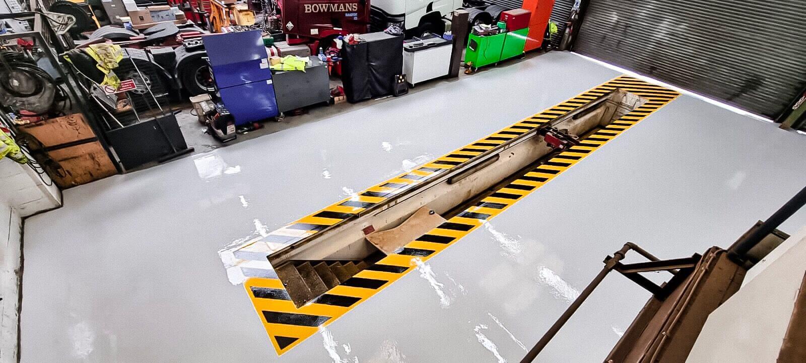 Epoxy Resin Floor Car Maintenance Bay